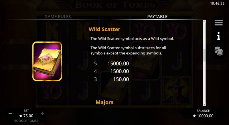 Book of Tombs :: Wild and Scatter Rules
