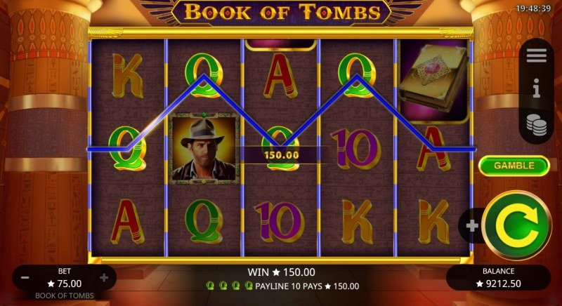 Book of Tombs :: A four of a kind win