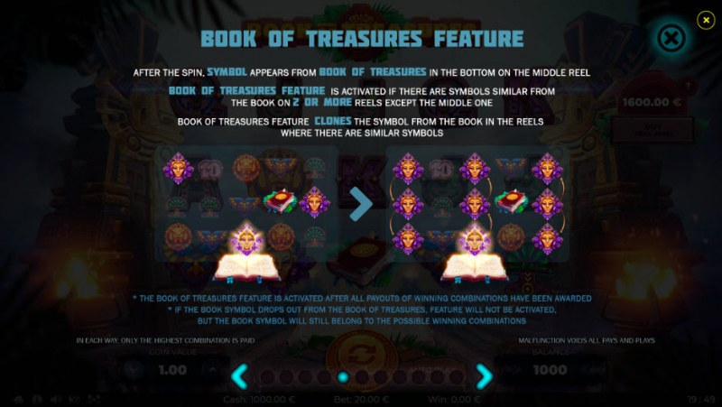 Book of Treasures :: Feature Rules