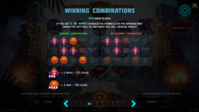 Book of Treasures :: Winning Combinations
