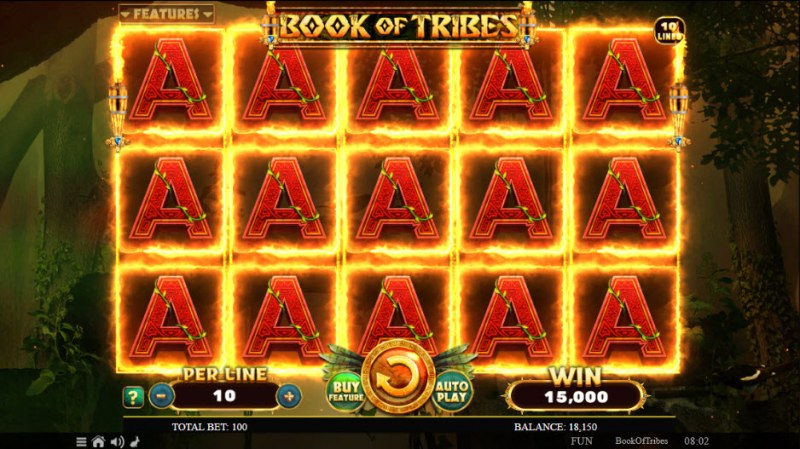 Book of Tribes :: Multiple winning combinations leads to a big win
