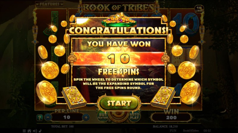 Book of Tribes :: 10 Free Spins Awarded