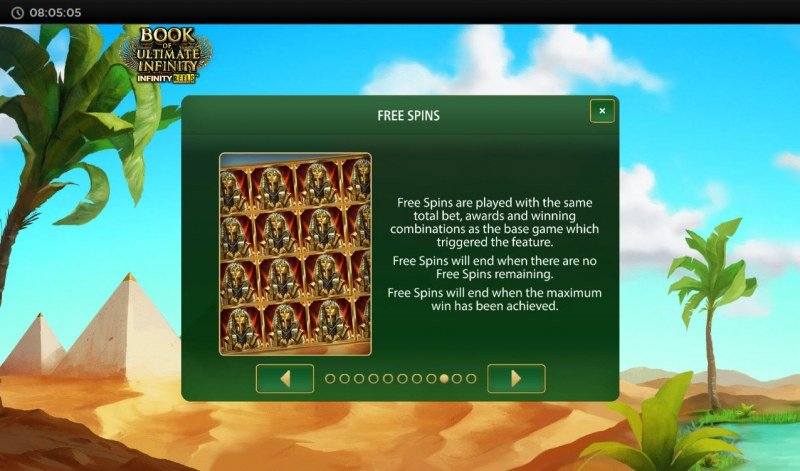 Book of Ultimate Infinity :: Free Spin Feature Rules