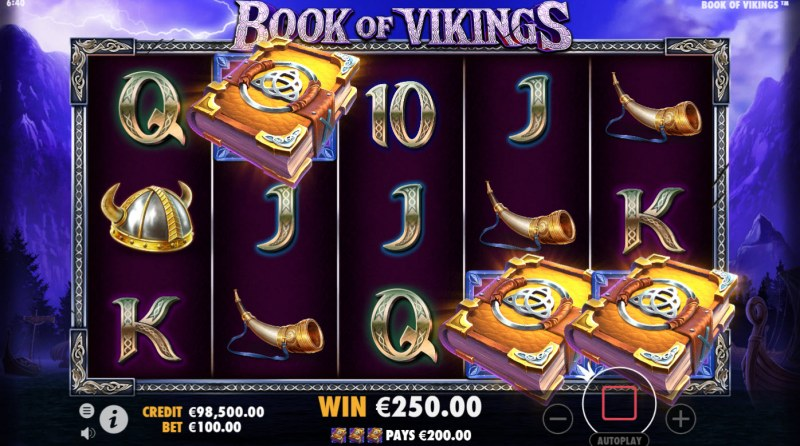 Book of Vikings :: Scatter symbols triggers the free spins bonus feature