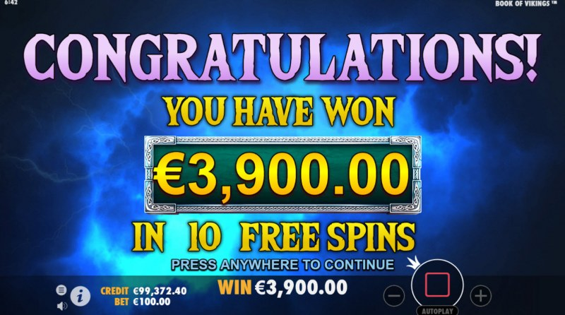 Book of Vikings :: Total Free Spins Payout