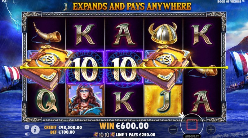 Book of Vikings :: Free Spins Game Board