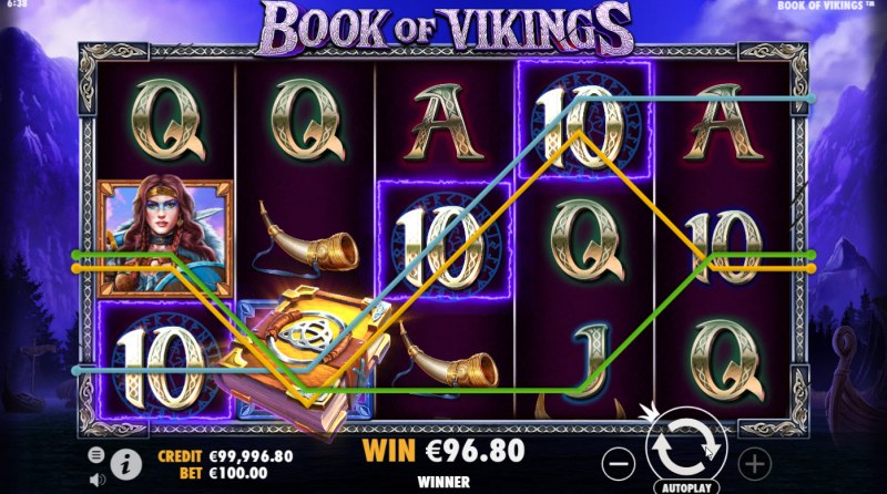 Book of Vikings :: Multiple winning paylines