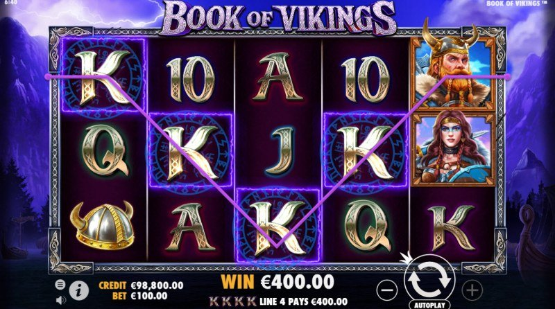 Book of Vikings :: A four of a kind win