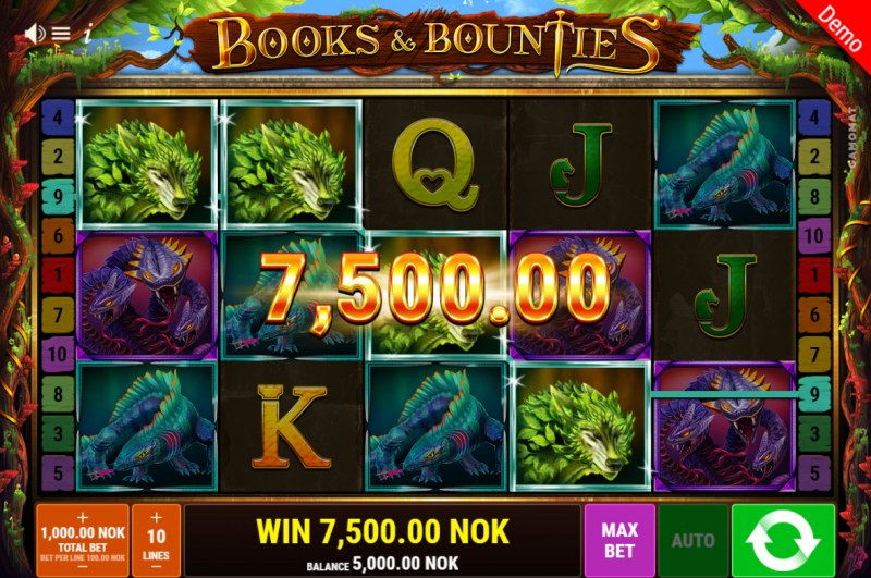 Books & Bounties :: A four of a kind win
