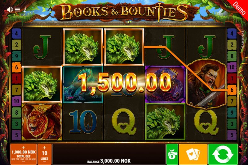 Books & Bounties :: A three of a kind win