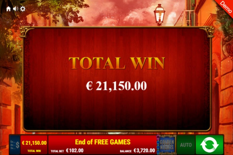 Books & Bulls Golden Nights Bonus :: Total free spins payout