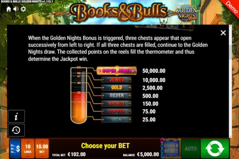 Books & Bulls Golden Nights Bonus :: Bonus Game Rules