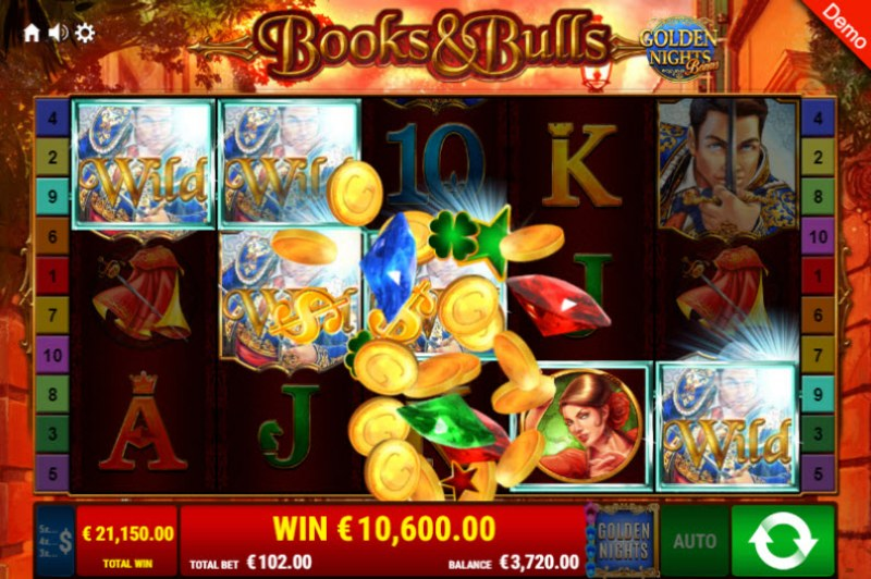 Books & Bulls Golden Nights Bonus :: Big Win