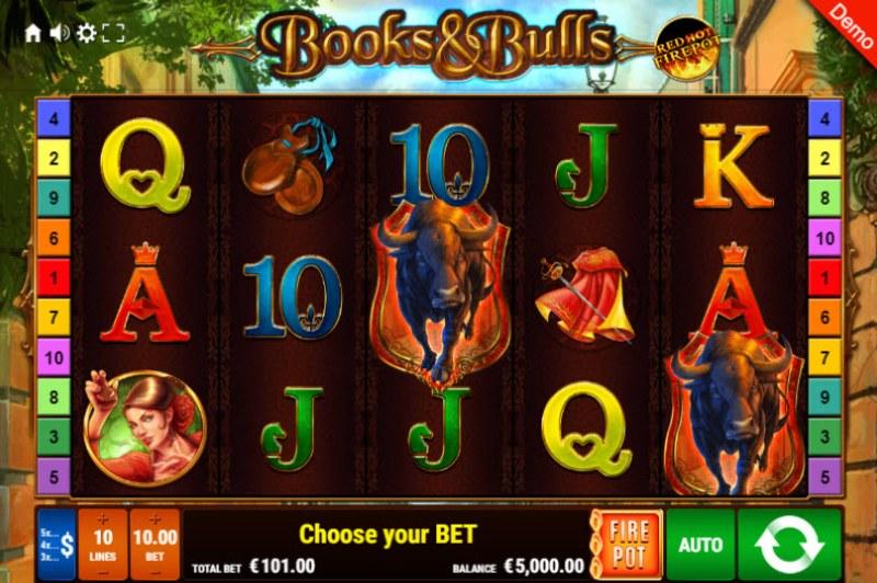 Books & Bulls Red Hot Firepot :: Main Game Board