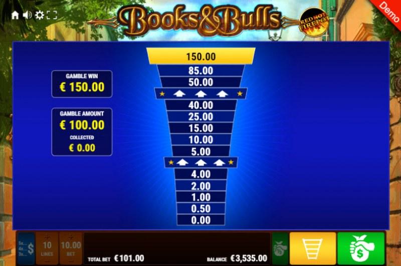 Books & Bulls Red Hot Firepot :: Ladder Gamble Feature