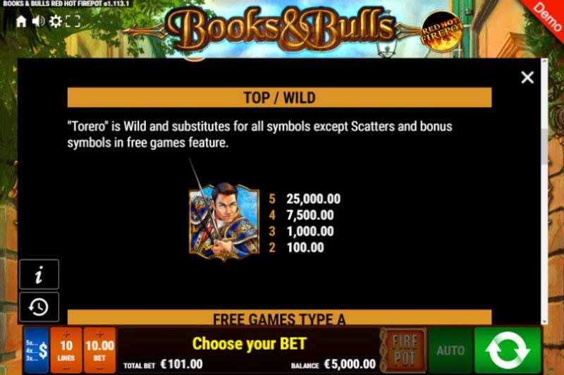 Books & Bulls Red Hot Firepot :: Wild Symbols Rules