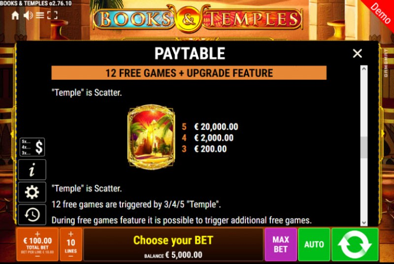 Books & Temples :: Free Spins Rules