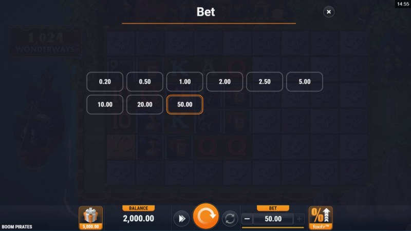 Boom Pirates :: Available Betting Options