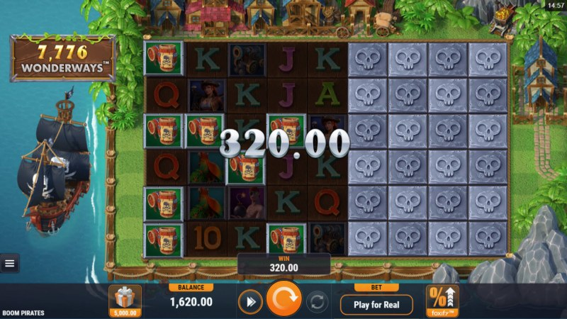 Boom Pirates :: Multiple winning combinations leads to a big win
