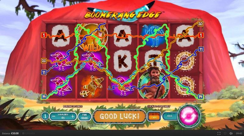 Boomerang Edge :: Multiple winning paylines