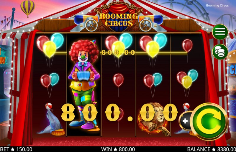 Booming Circus :: Multiple winning paylines