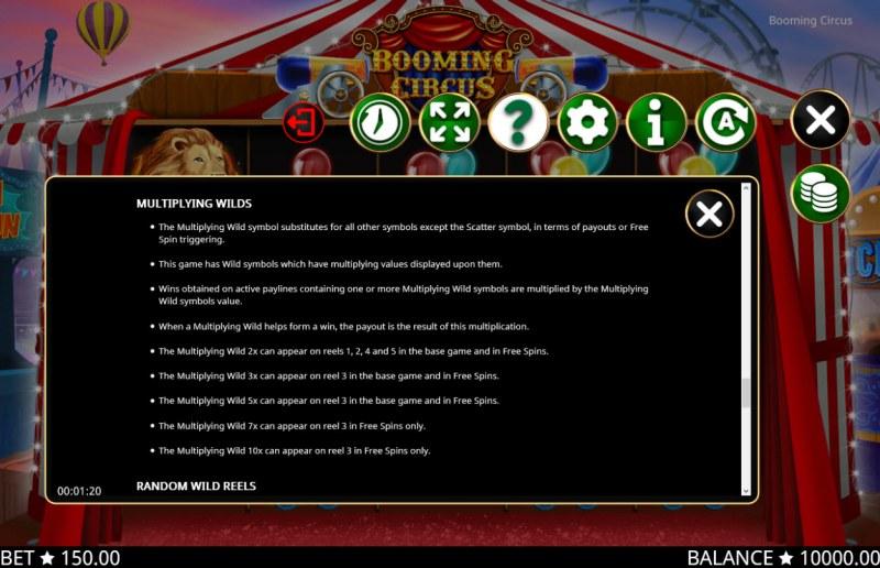 Booming Circus :: General Game Rules