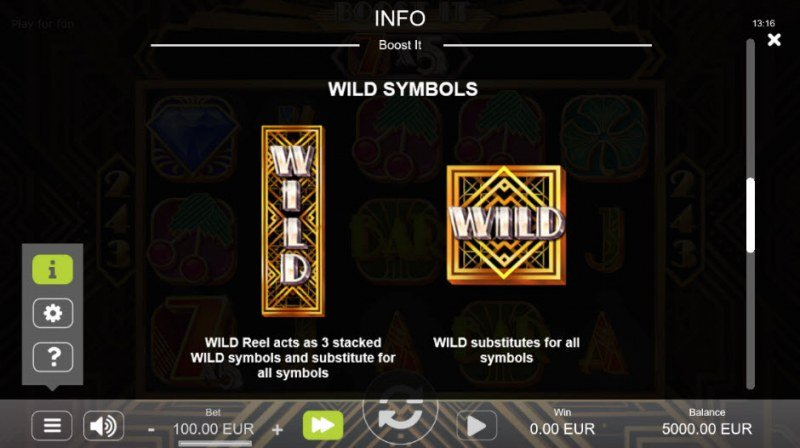 Boost It :: Wild Symbols Rules