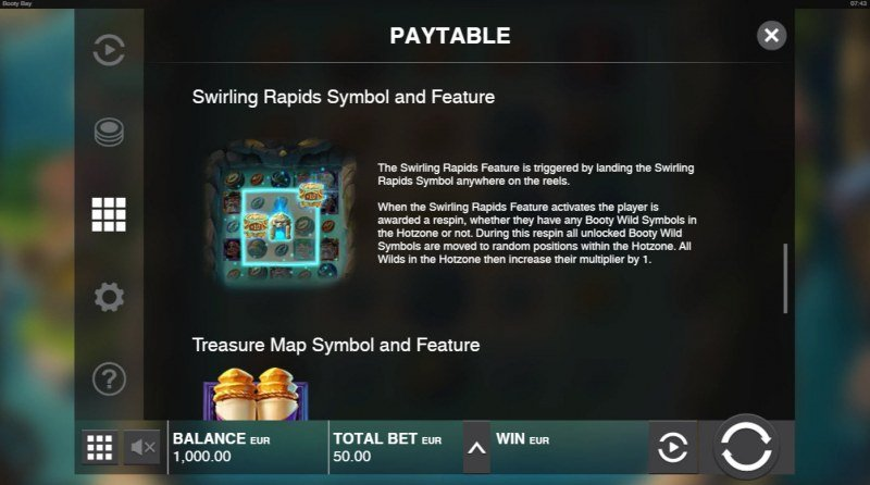 Booty Bay :: Swirling Rapids Symbol and Feature
