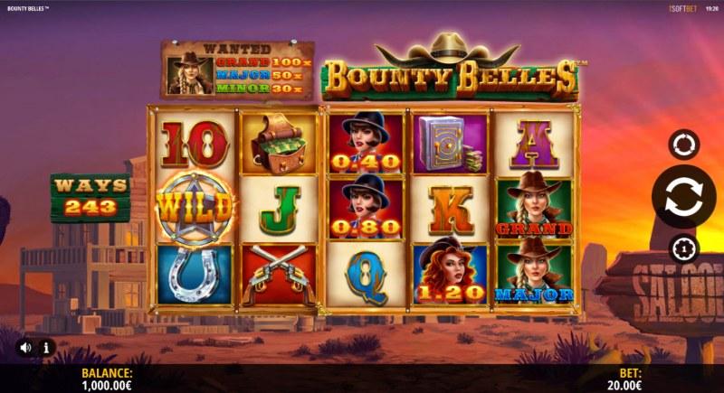 Bounty Belles :: Main Game Board