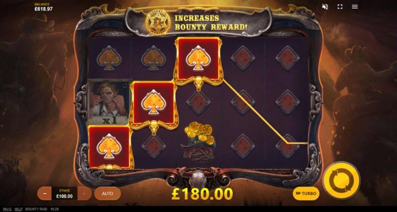 Bounty Raid :: Three of a kind win