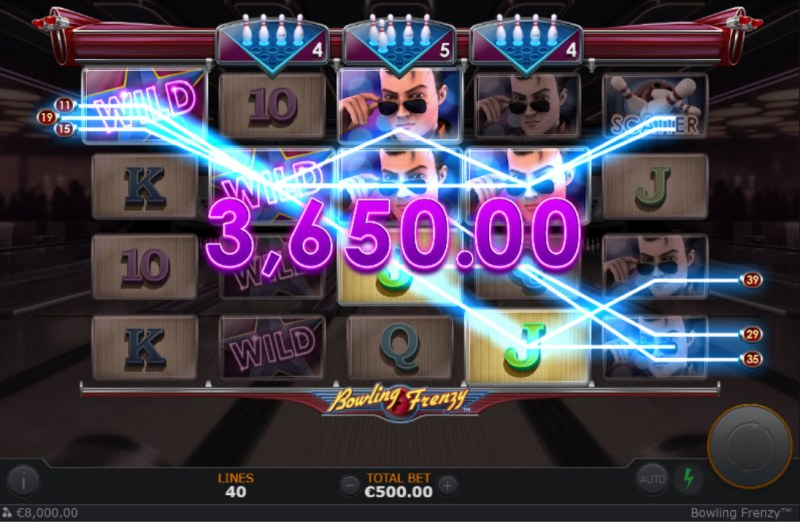Bowling Frenzy :: A four of a kind win
