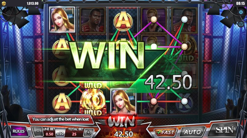 Boxing Arena :: Multiple winning paylines