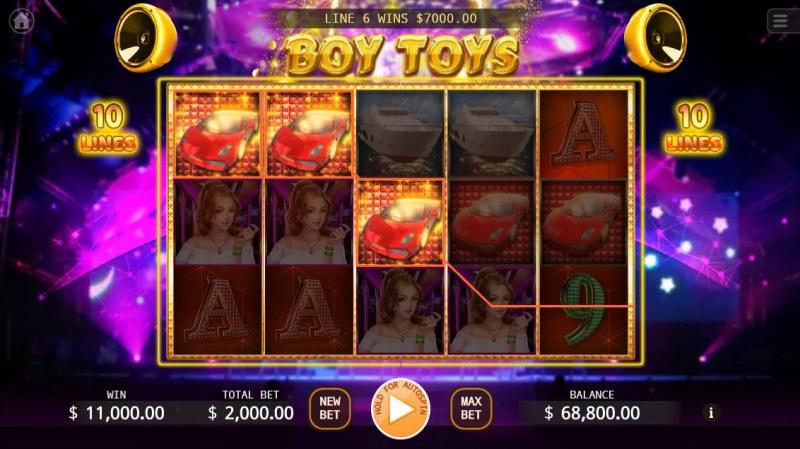 Boy Toys :: Multiple winning paylines