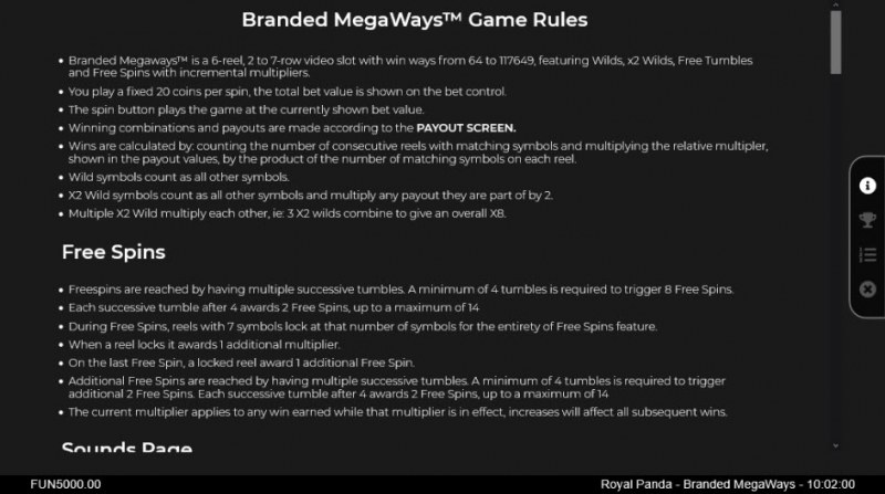 Branded Megaways :: General Game Rules