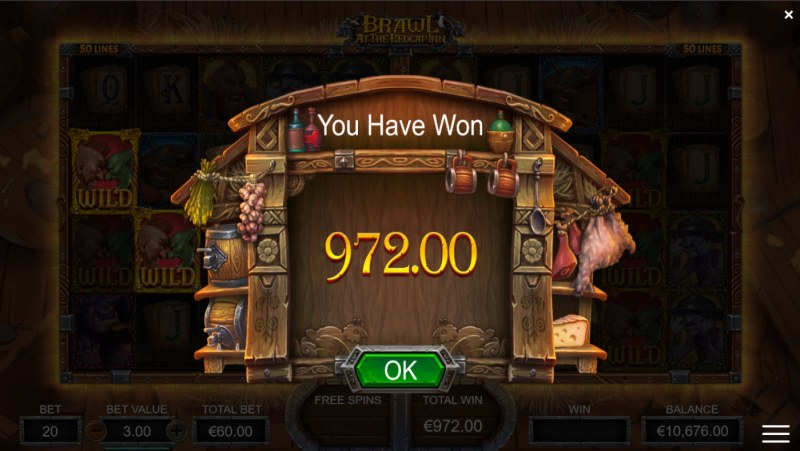 Brawl at the Redcap Inn :: Total Free Spins Payout