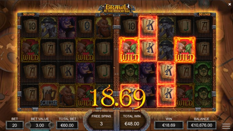 Brawl at the Redcap Inn :: A four of a kind win