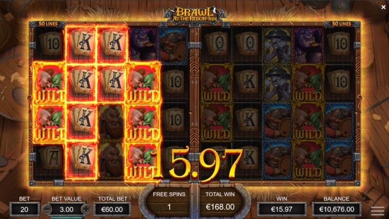 Brawl at the Redcap Inn :: Multiple winning paylines