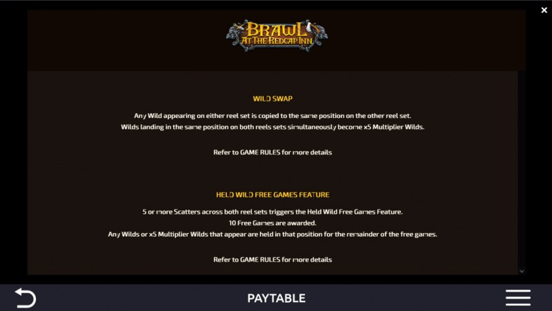 Brawl at the Redcap Inn :: Feature Rules