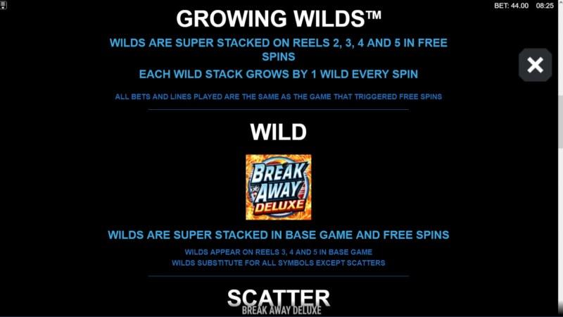 Break Away Deluxe :: Wild Symbols Rules