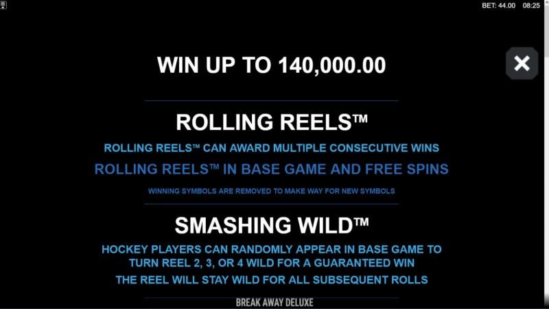 Break Away Deluxe :: Rolling Reels and Smashing Wilds