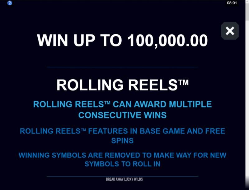 Break Away Lucky Wilds :: Rolling Reels Feature