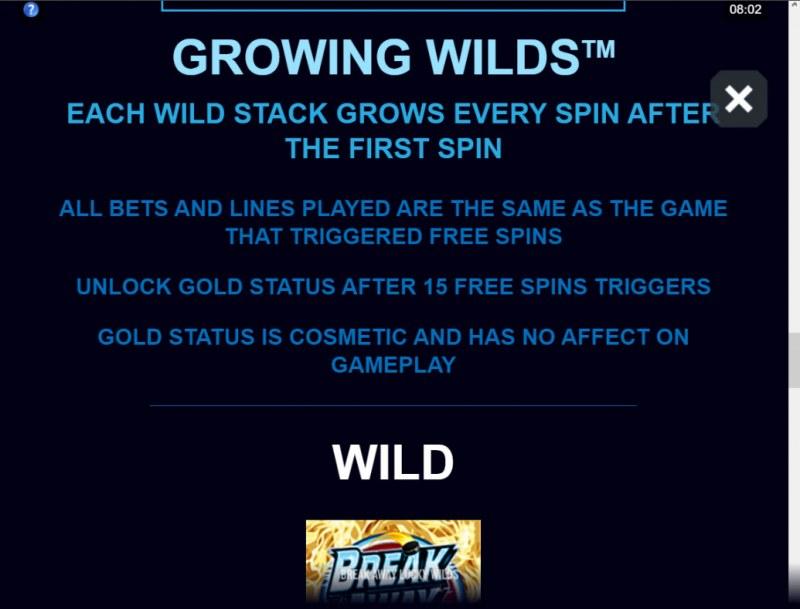 Break Away Lucky Wilds :: Growing Wilds