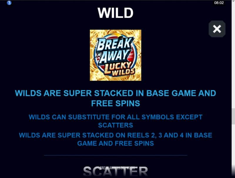 Break Away Lucky Wilds :: Wild Symbol Rules