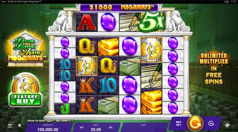 Break da Bank Again Megaways :: Base Game Screen