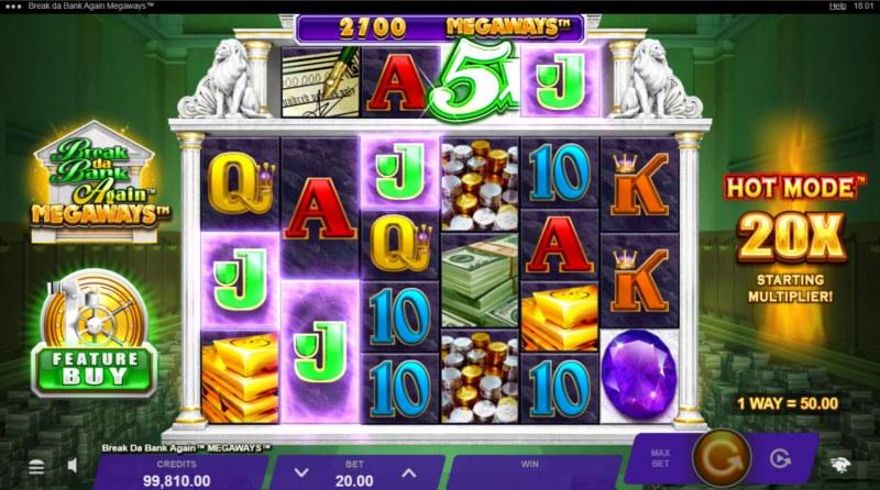 Break da Bank Again Megaways :: 5X Wild Multiplier