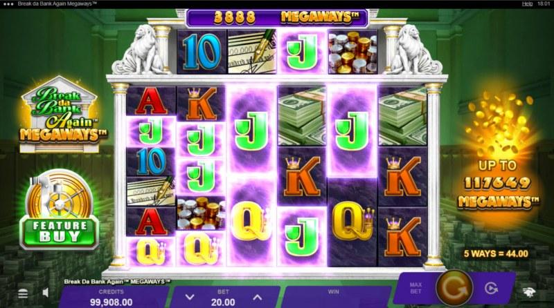 Break da Bank Again Megaways :: A five of a kind win