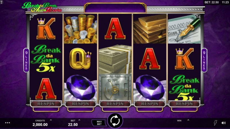 Play slots at Roxy Palace: Roxy Palace featuring the Video Slots Break Da Bank Again Respin with a maximum payout of $144,000