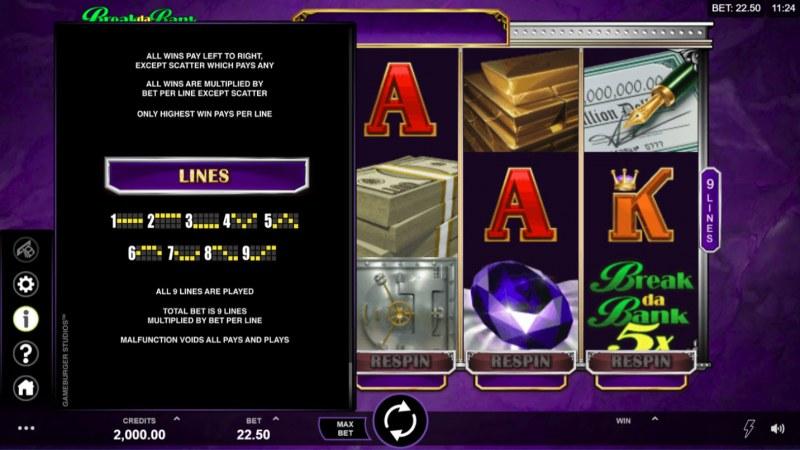 Break Da Bank Again Respin :: General Game Rules