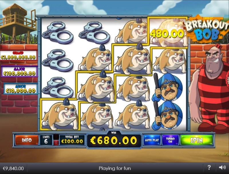 Breakout Bob :: Multiple winning paylines