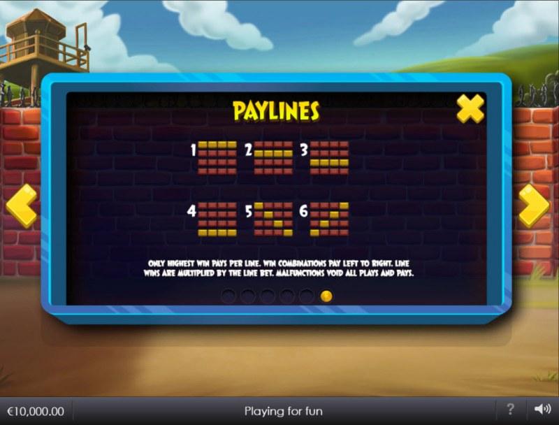Breakout Bob :: Paylines 1-6